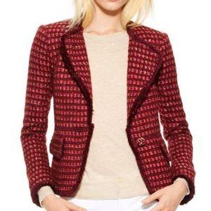 Tory Burch Tweed Victory Jacket Blazer Size 10